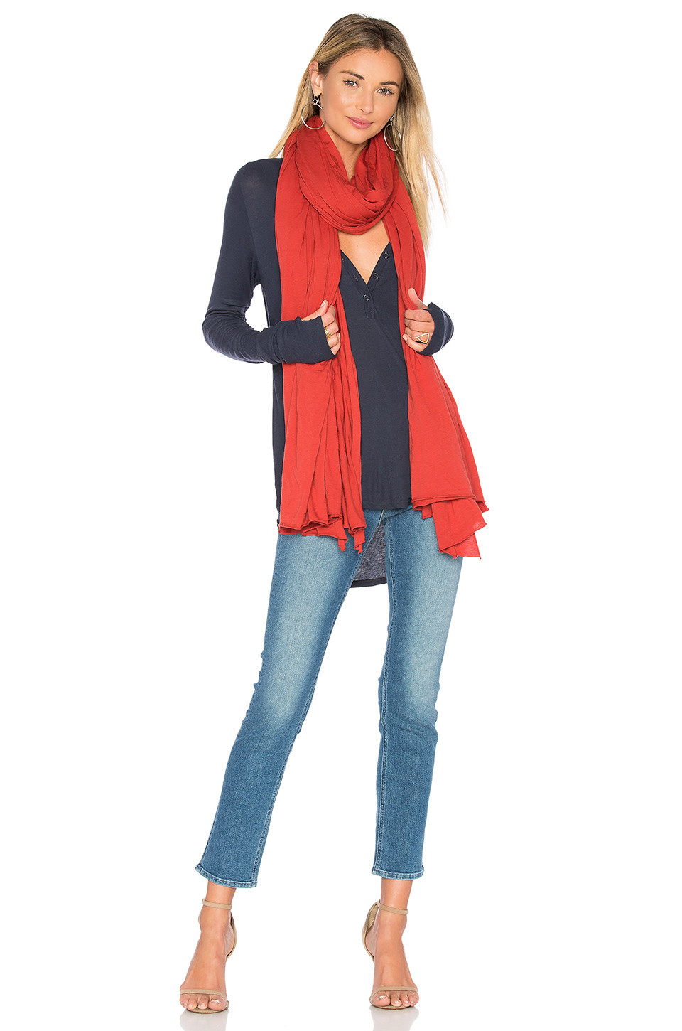 LA Made Zingo Scarf in red