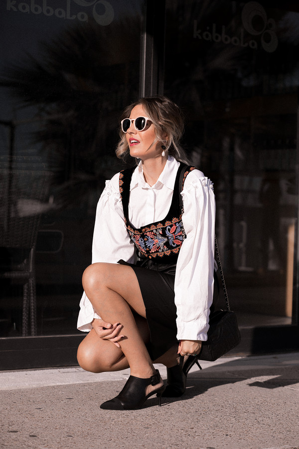 mi aventura con la moda blogger skirt shirt top shoes bag