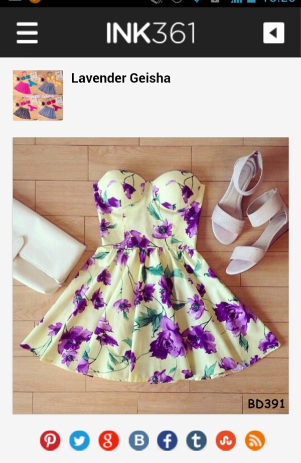 dress purple white beautiful floral dress yellow flowers floral dress green strapless cute yellow dress strapless dress short dress homecoming dress shoes sandals