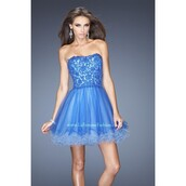 dress,a line prom gowns,cocktail,prom dress,blue,electric blue