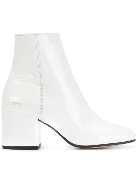 Nubikk women ankle boots leather white shoes