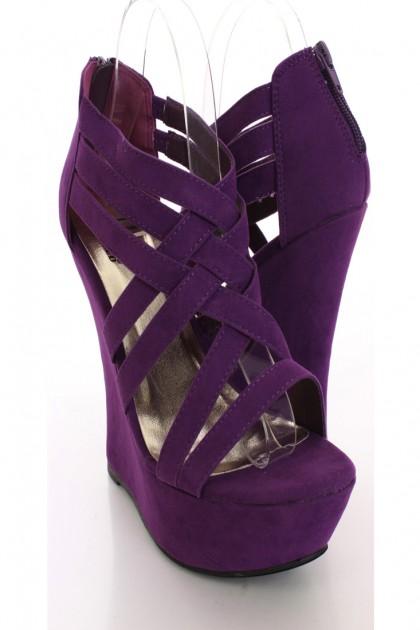 Shoes Purple Wedges Wheretoget