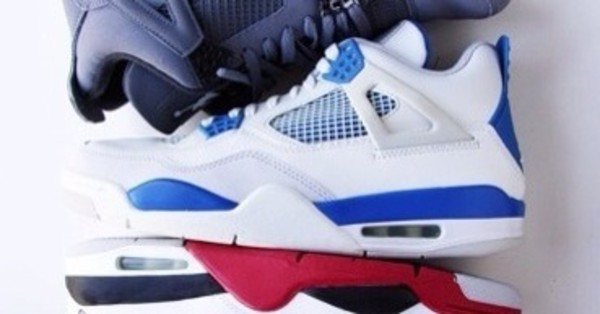 shoes air jordan retro 4 air jordan military blue white gs women sneakers j's j's on my feet gorgeous air jordan 4
