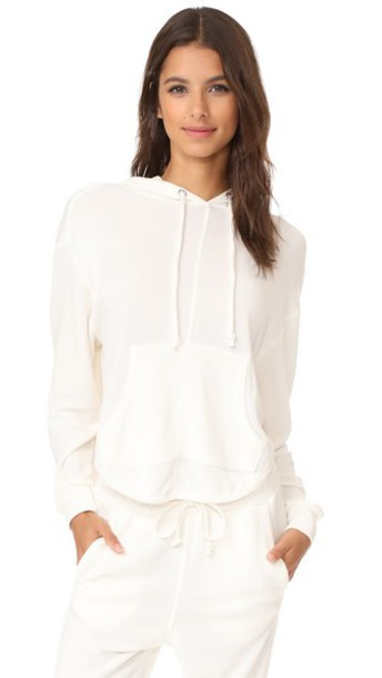 Free People Movement Back Into It Hoodie in white