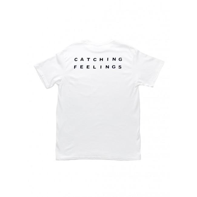 Catching feelings white t