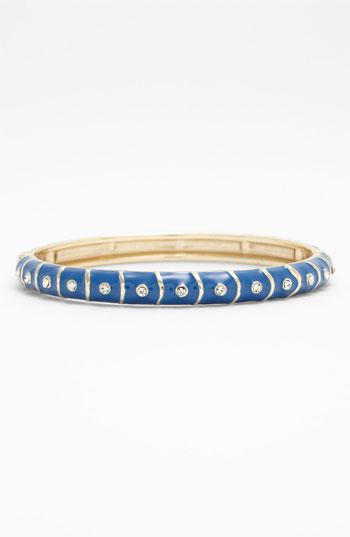 Sequin Small Stripe & Crystal Enamel Bangle   Nordstrom