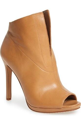 shoes peep toe boots