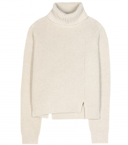 mytheresa.com -  Wool and cashmere-blend turtleneck sweater - Sweaters - Knitwear - Clothing - Luxury Fashion for Women / Designer clothing, shoes, bags