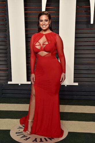 dress gown bra red dress red red carpet dress plus size dress slit dress sandals ashley graham oscars 2016 plus size prom dress curvy plus size