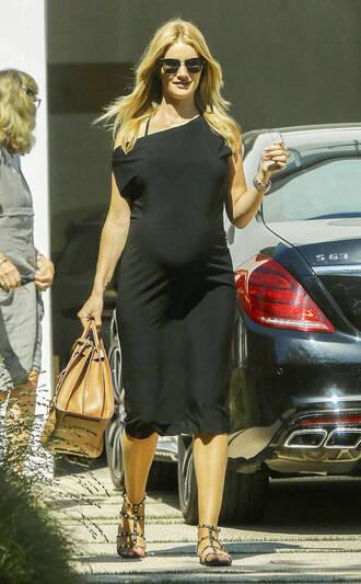 dress midi dress maternity rosie huntington-whiteley sandals black dress