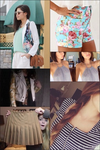 belt jacket shorts skirt shirt