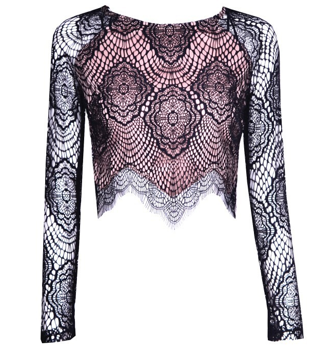 Fashion hot lace top