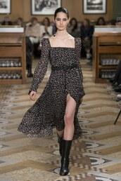 dress,spring dress,midi dress,altuzarra,runway,model,fashion week,paris fashion week 2018