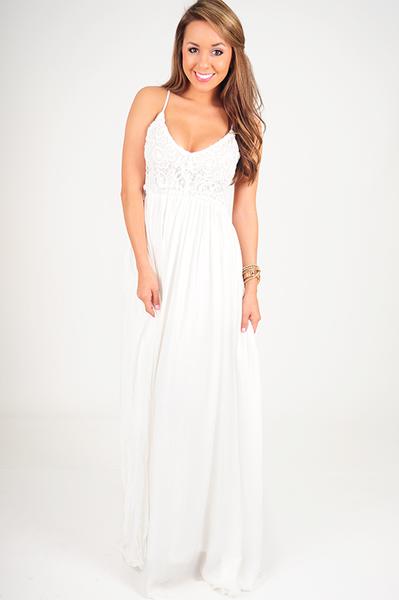 Restock: wherever love goes dress: white – hope's