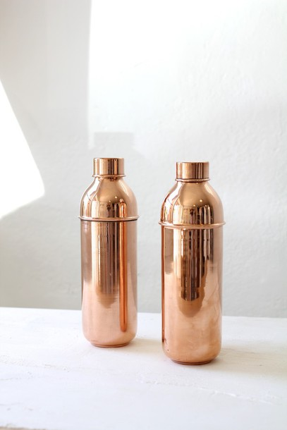 home accessory copper home decor kitchen dinnerware water bottle