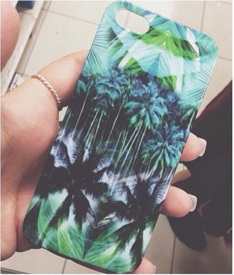 phone cover tumblr palm tree print i phone cover green i need the filters blue