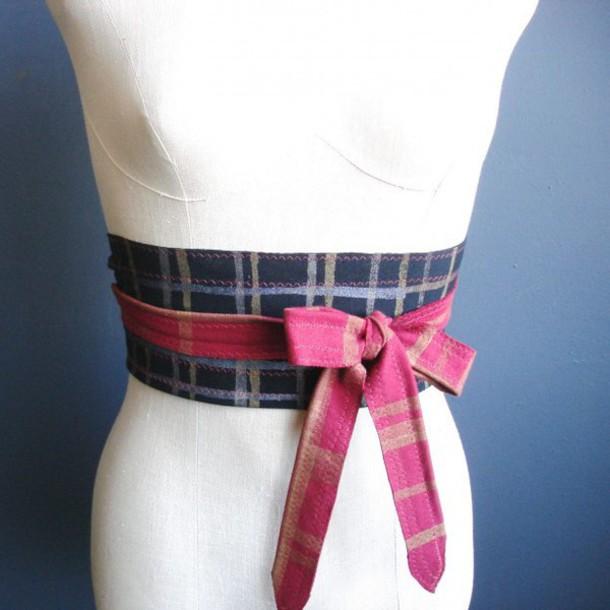 belt plaid belt red belt navy belt plaid navy pink stripes jersey belt obi belt dress belt bohemian boho boho chic