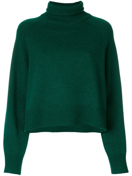 Zadig & Voltaire sweatshirt metallic women wool green sweater