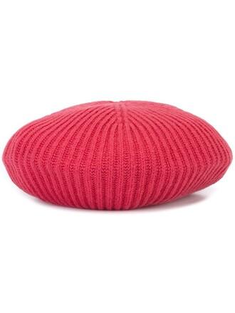 women beret wool red hat