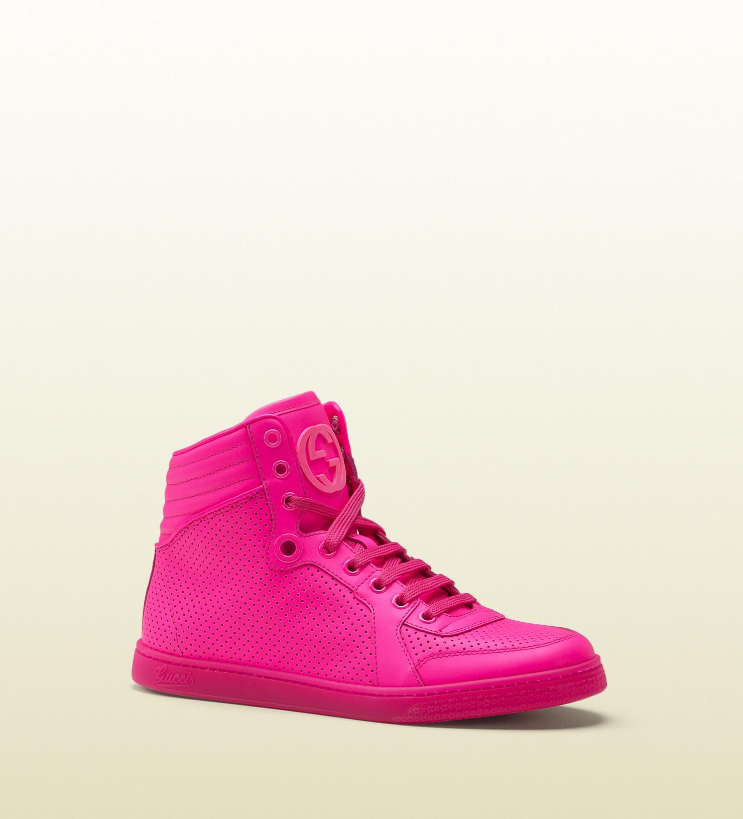 6344c4f83 Gucci - coda neon pink leather sneaker 323812DBL505616
