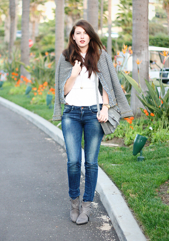 these days t-shirt jeans jacket bag shoes jewels