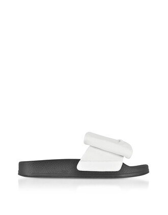 sandals leather white black shoes