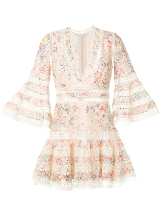 dress floral dress embroidered women floral cotton