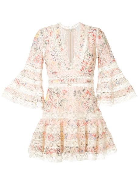 Zimmermann dress floral dress embroidered women floral cotton