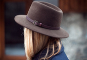 brown hat,indiana jones hat,fedora,hat