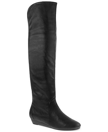 laundry boots trickster demi wedge the knee