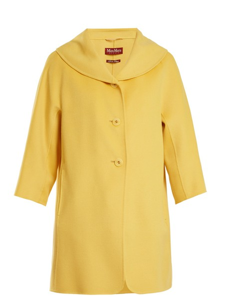 Max Mara Studio coat yellow