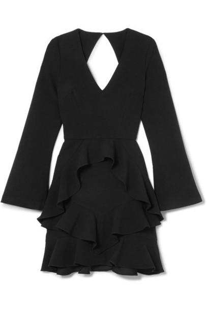 dress mini dress mini back open black