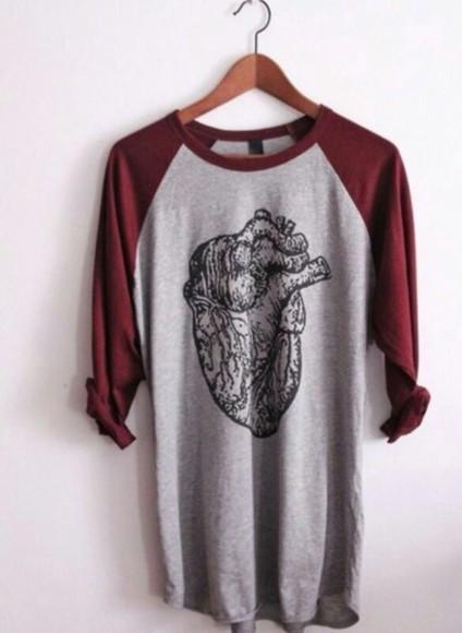 sweater clothes heart human darf darkred