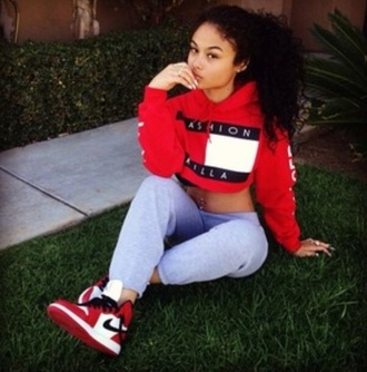 sweater fashion red trendy cool cropped casual comfy sporty rose wholesale-dec red sweater trillfiger red fashion killa
