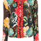 Twin-set - textured floral pattern cardigan - women - cotton/polyester/wool - xl, cotton/polyester/wool