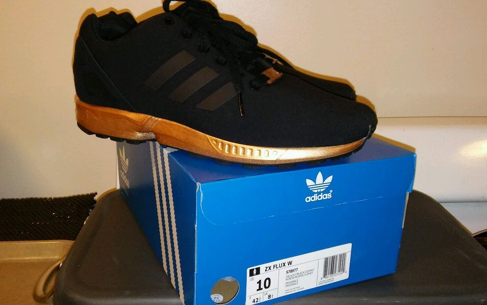new womens adidas zx flux black copper rose gold