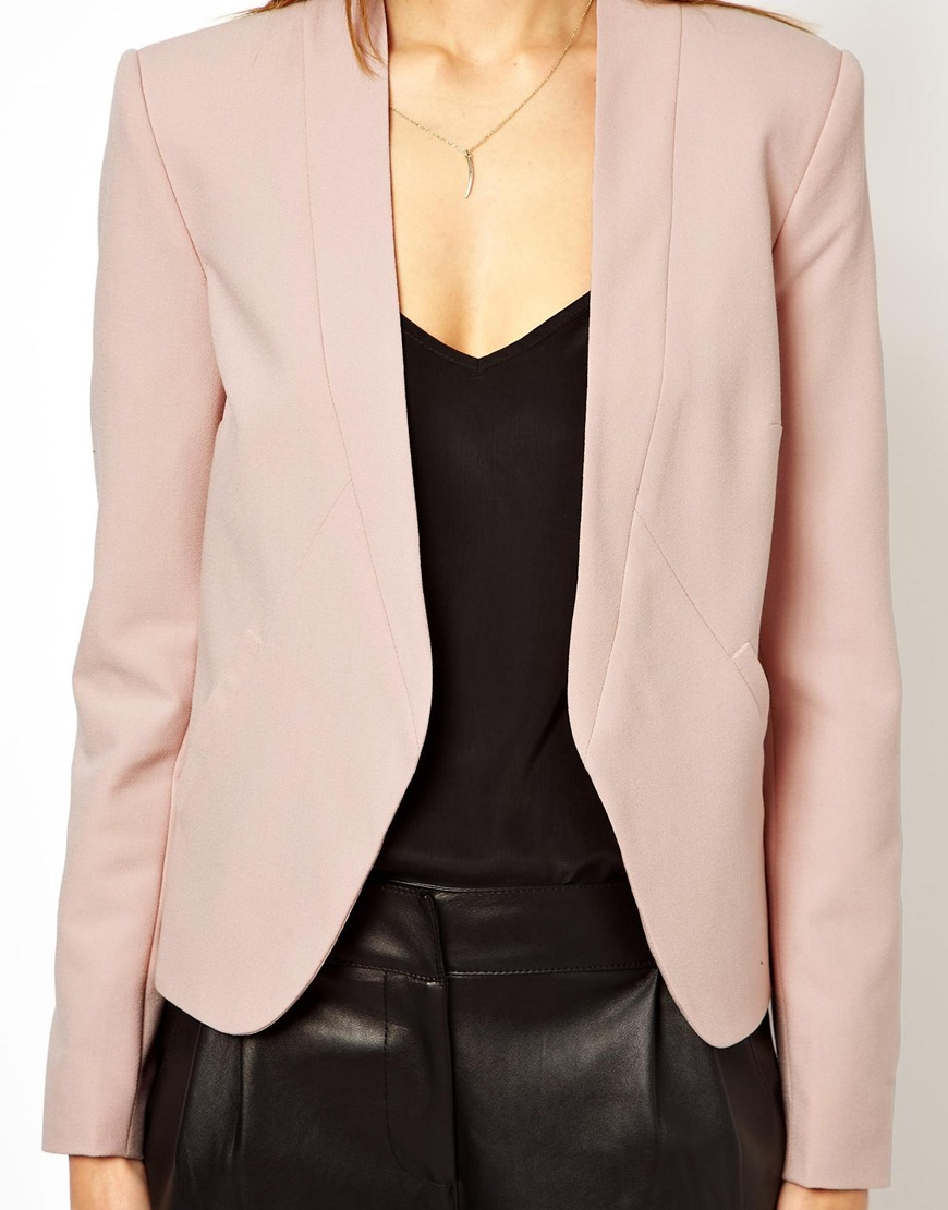 ASOS Cropped Blazer with Clean Lapel at asos.com