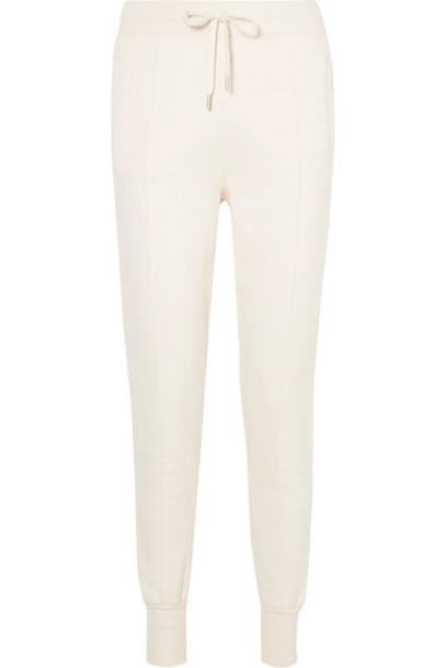 Ganni pants track pants white cotton off-white