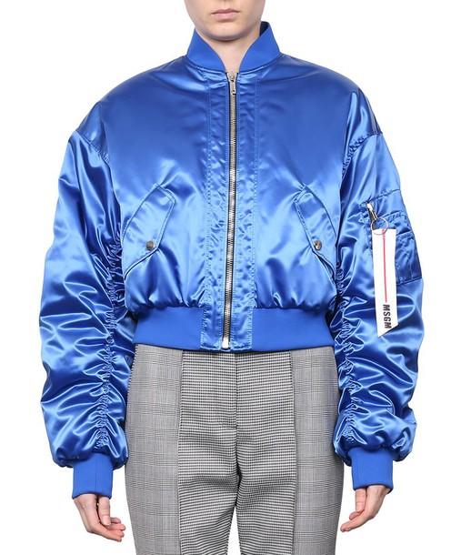 jacket bomber jacket satin bomber satin