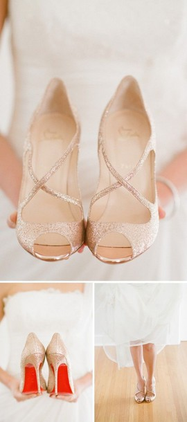 8fb1e79af80e0d shoes blush heels sparkle wedding shoes rose gold cinderella shoes wedding  shoes