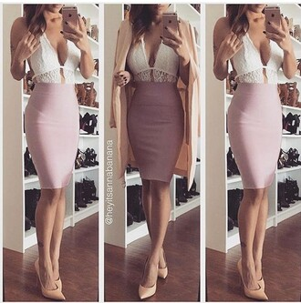 dress white pink pink and white two piece dress pastel baby pink cute gorgeous sexy fashion pretty beautiful summer going out party dress special occasion dress occasioncelebrity