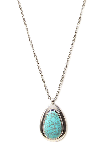 Heirloom Faux Stone Pendant Necklace | FOREVER21 - 1000071164