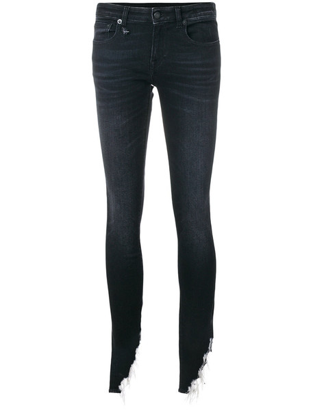 R13 jeans skinny jeans women spandex cotton black