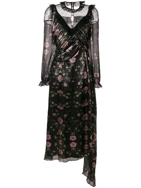 dress women spandex black silk