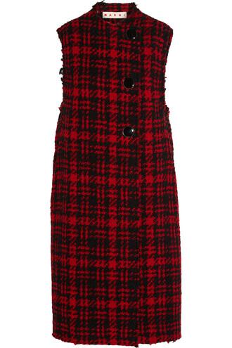 vest wool red jacket