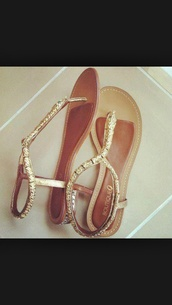 shoes,sandals,gold,style,cute,lovely,gold flat sandals,Gold low heel sandals