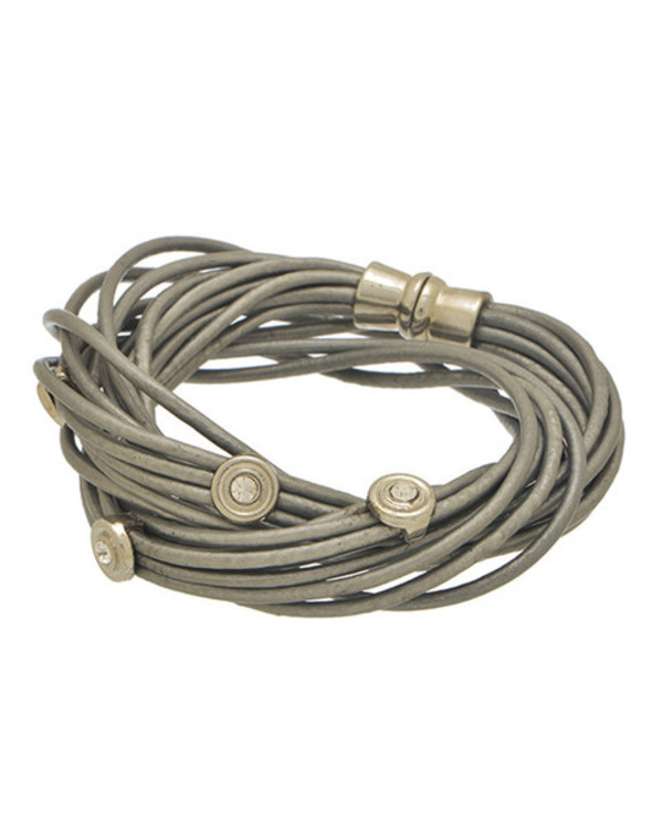 jewels wrap bracelet silver leather