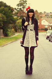 kani,lace,white dress,black dress,dress