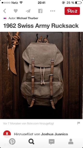 bag swiss army bag 1962 backpack mens accessories mens backpack
