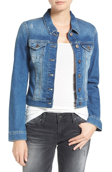 Mavi Jeans Samantha Distressed Denim Jacket | Nordstrom